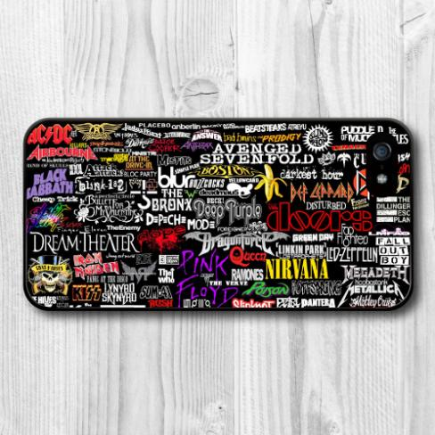 Rock Bands Collection Protective Hard Cover Case iPhone 6 Plus 5 5S 5C 4 4S - NEW SWELL Watchs Store store