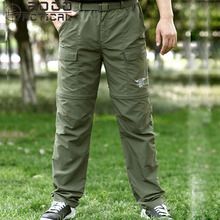 fast dry zip off outdoor camping cycling hiking pants US navy seals tactical pants tactical trousers quick dry anti-uv XXXL size