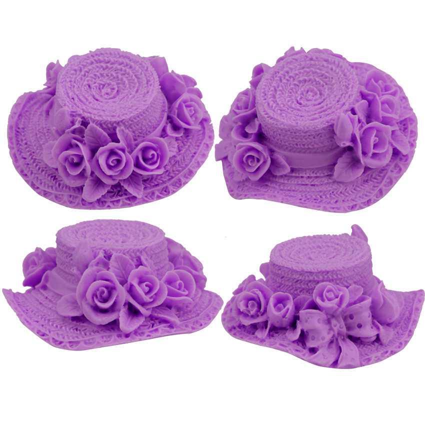 HCSTAR 3D Cute Ladies Hat Shape Silicone Cake Fondant Mold Baking Chocolate Hand-mould DIY Baking Tools SOAP Mold 7.8*7.8*4 cm(China (Mainland))