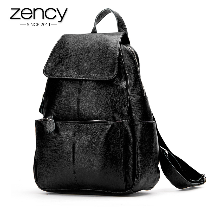 2015 Popular 100% Real Soft Genuine Leather Girl Backpack School Bags Laptop Women Rucksack Two Strap Ladies Knapsack