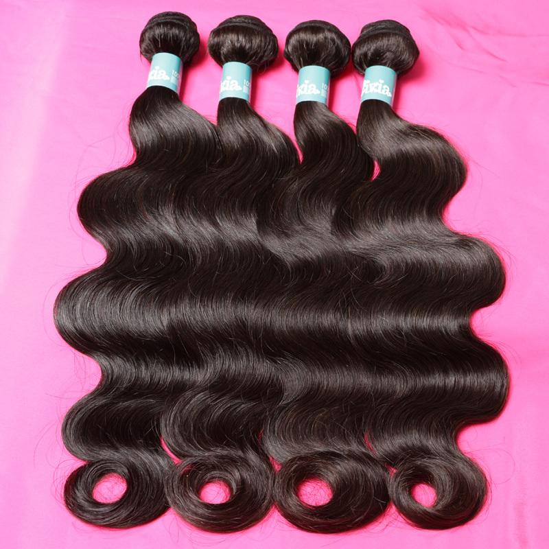 8A brazilian virgin hair body wave 4 bundles natural black human hair weave 8-30 inches 100% unprocessed brazilian body wave(China (Mainland))