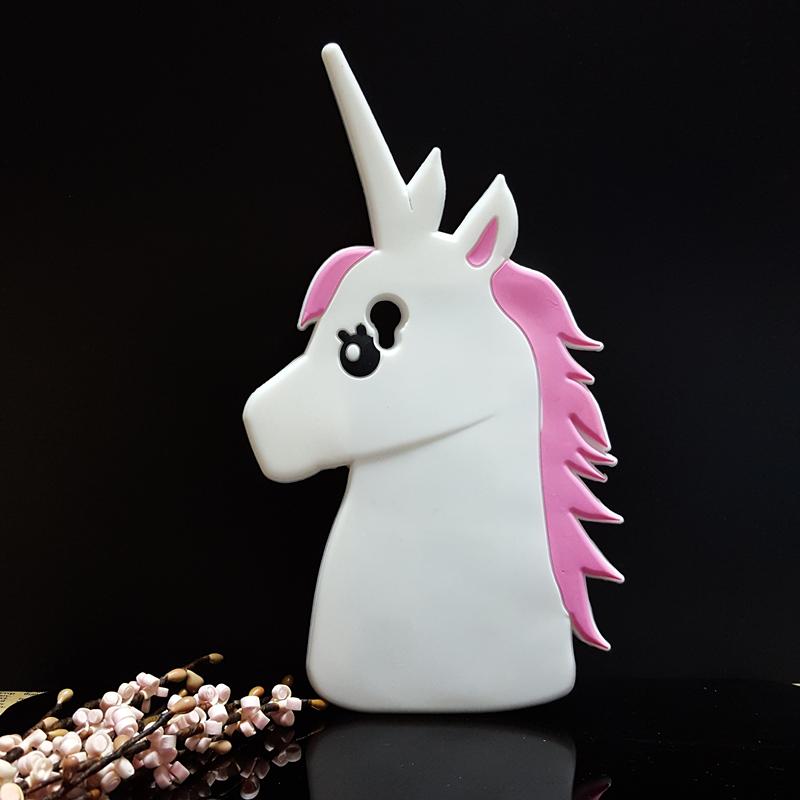 Fashion 3D Cute Cartoon Unicorn Soft Silicone Rubber Case Cover Sony Xperia M4 Aqua E2303 E2333 E2353  -  CHAO YE Mobile phone accessories shop store