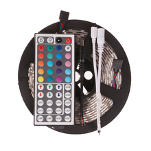 5M 12V RGB LED Strip 3528 Waterproof  IP65 SMD 3528 300 Leds 60 LED/M Color Changing Rope Light With 44 Key IR Remote Controller(China (Mainland))
