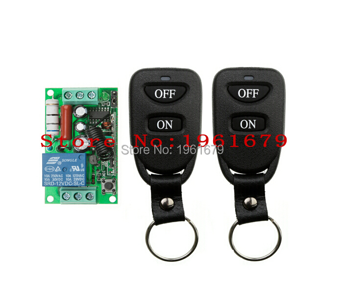 AC 220 V 10 A 1 channel RF Wireless Remote Control 55*32*17 mm 1 Receiver +2 Transmitter High-grade remote control(China (Mainland))