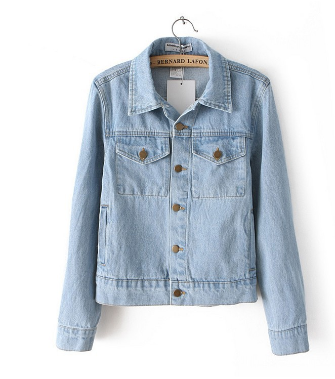Online Get Cheap Plus Size Jean Jacket with Leather Sleeves Women