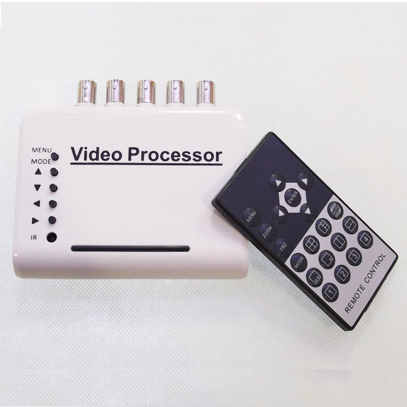 HD 4 Channel CCTV Quad Video Camera Processor System kit splitter switcher COLOR(China (Mainland))