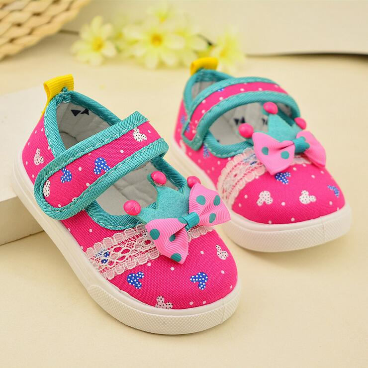 2016 spring new Baby toddler shoes Canvas square mouth ventilation Children bow soft bottom shoes 12-14.5CM Z &amp; L156<br><br>Aliexpress