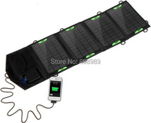 HOT Sale 18V 14W Portable Folding Solar Charger Solar Panel External Battery Charger Backup For iphoneFree Shipping