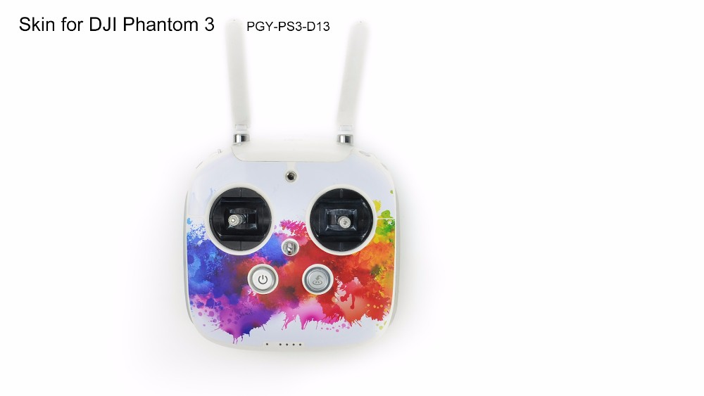 PGY DJI phantom 3 accessaries stickers decals labels Graphic Wrap Skin 3M Sticker Cover For Phantom3 professional Drone parts
