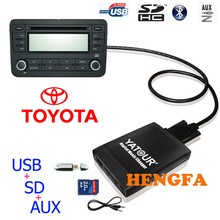 Yatour Car Digital  Music Changer USB MP3 AUX adapter For Toyota Big 5+7 Lexus Scion yt-m06(China (Mainland))