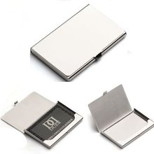 Business Name Credit ID Card Holder Box Metal Stainless Steel Pocket Box Case(China (Mainland))