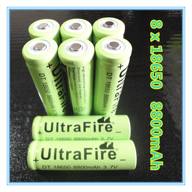 Quality 8pcs/lot 8800mah 18650 rechargeable battery 3.7v li ion bateria - 3pcs lithium ion battery 12v Series connection free(China (Mainland))