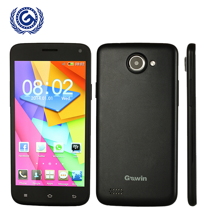 5.0 inch Screen Original Smart Mobile Phone Gowin F7 Dual Core 2.0MP Camera Adroid 4.2 4GB ROM WIFI WCDMA Cellphone with gift(China (Mainland))