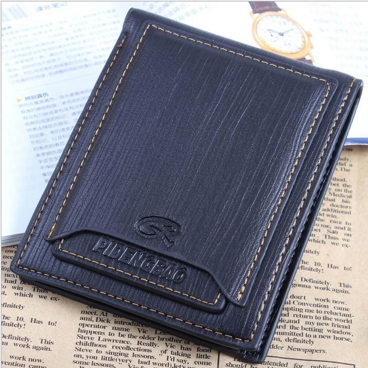 Free Shiping! hot selling brand leather men wallet and purse with 6 card slots 2 SIM slots 2 billfold burses C363(China (Mainland))
