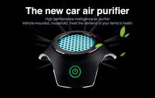 2016 year very hot sale! High Quality Car Air Purifier HEPA 12v Freshener Ionizer Oxygen Bar Car Air Purifier  car air purifier(China (Mainland))
