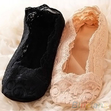 Fashion Women s Cotton Lace Antiskid Invisible Liner Low Cut Socks 2K8G
