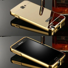 Buy Luxury Mirror Hybrid case Samsung Galaxy Note 1 N7000 7000 I9220 9220 Hard Metal Aluminum frame Protector back cover for $2.78 in AliExpress store