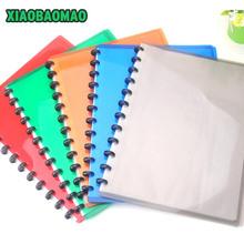 A4 PVC Clear Book Presentation Folder 20 Pockets File Folder Document Folder Display Book Mushroom Spiral Office Supplies(China (Mainland))