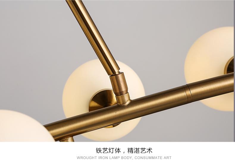 Creative or salle manger lustre moderne en verre lampe suspendue luminaire suspension Suspension salle a manger