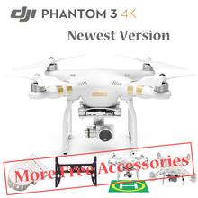 2016 DJI Phantom 3 4k Version FPV Quadcopter Rc Drone with 4k Camera Free Accessories VS DJI Phantom 3 Professionals Free Ship