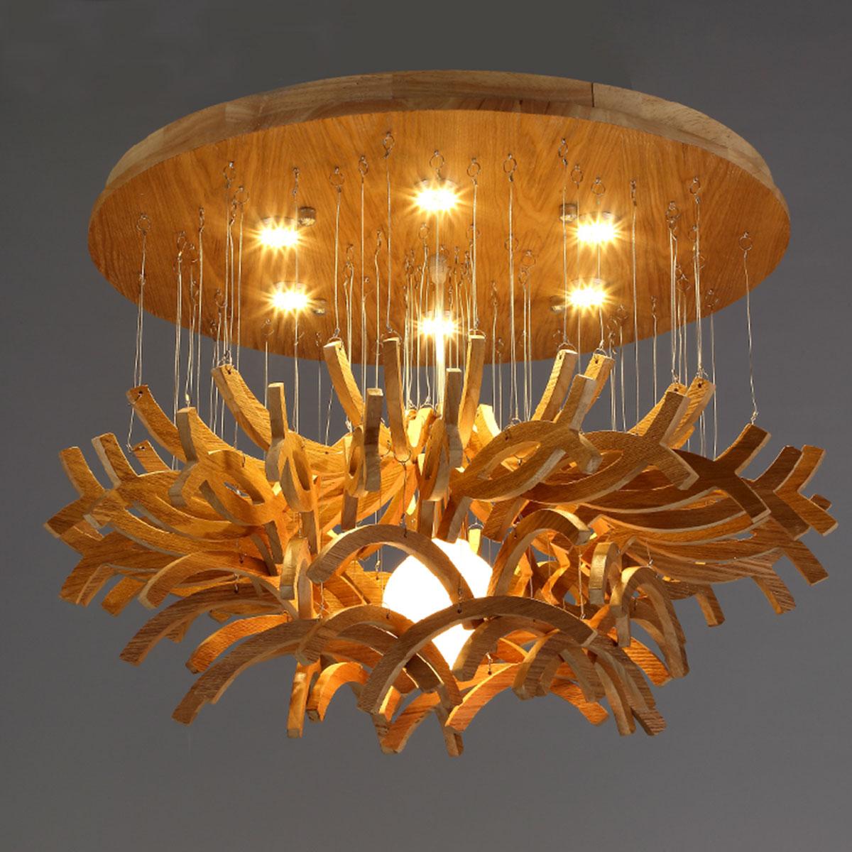 Modern chandelier northern european wood chandelier wooden for Wood dining room chandeliers