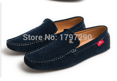 new 2015 fashionable man shoes leather shoes with flat shoes low man size:40-47(China (Mainland))