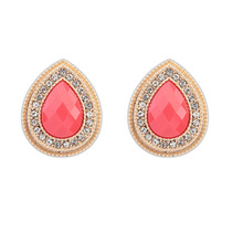 2014 Promotion Direct Selling Women Trendy Brincos Earings Brinco European And American Fine Droplets Elegant Stud Earrings Wild
