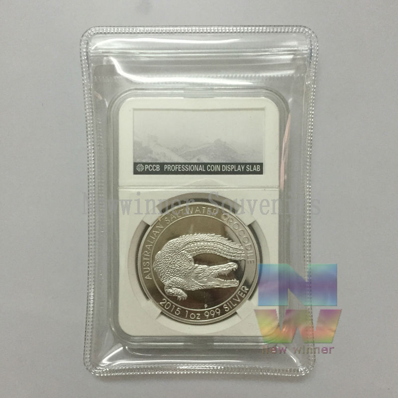 1PCS 2015 One Troy Ounce Silver Australia Saltwater Crocodile Perth Mint free shipping copy Coins(China (Mainland))