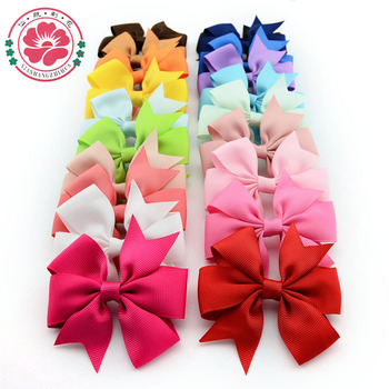 ( 20 pcs/lot) High Quality 3 inch Grosgrain Ribbon Boutique Hair Bows With Clip Hairpins For Kids Girl Hair Accessories 564
