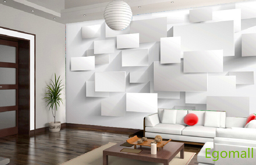 6square 3d wallpaper papel parede 3d wall paper papel de for 3d wallpaper for home decoration