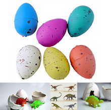 6PCS Magic Water Growing Dino Egg Hatching Colorful Dinosaur Add Cracks Grow Eggs Cute Children Kids Toy For Boys(China (Mainland))