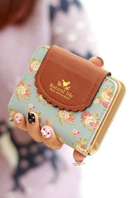 Purse Fashion Retro Women Wallets PU Leather Vintage Short Women Coin Purse Lady Card Wallet monederos mujer 6 color(China (Mainland))