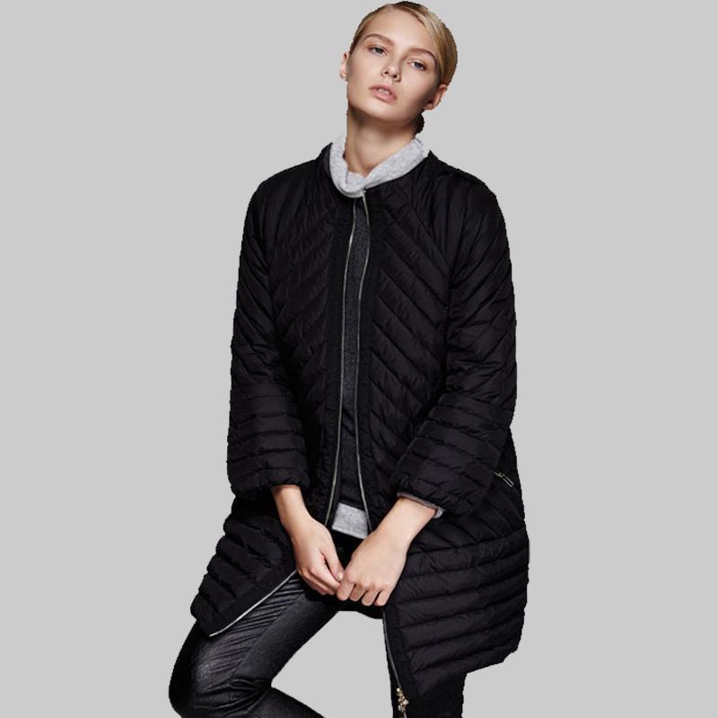Здесь можно купить  European Style 2015 New Ladies Winter Duck Down Jacket Women Long Sleeve Warm Coat Female Plus Size Black Long Outerwear YB861  Одежда и аксессуары