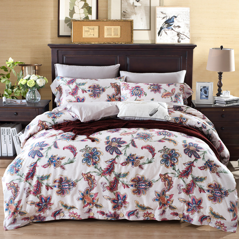 Svetanya sunflower Print Bedding Sets 100% Cotton Bed Linens Twin Queen King Size Bedclothes(China (Mainland))