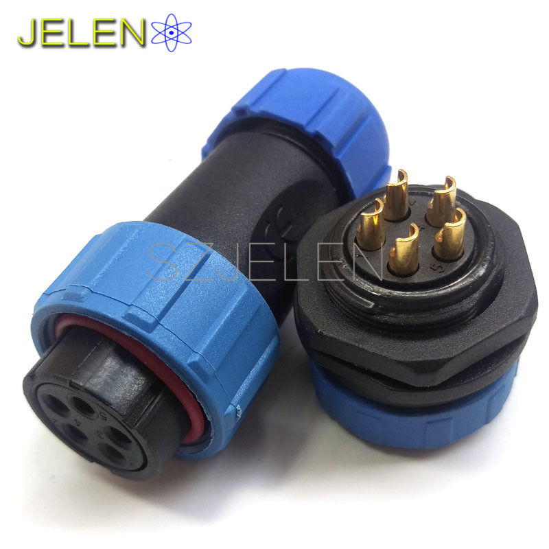 SP2110S/P, Robot cable connector, power cable wire connector 5 pin plug socket , Industrial Equipment Power Waterproof Connector(China (Mainland))