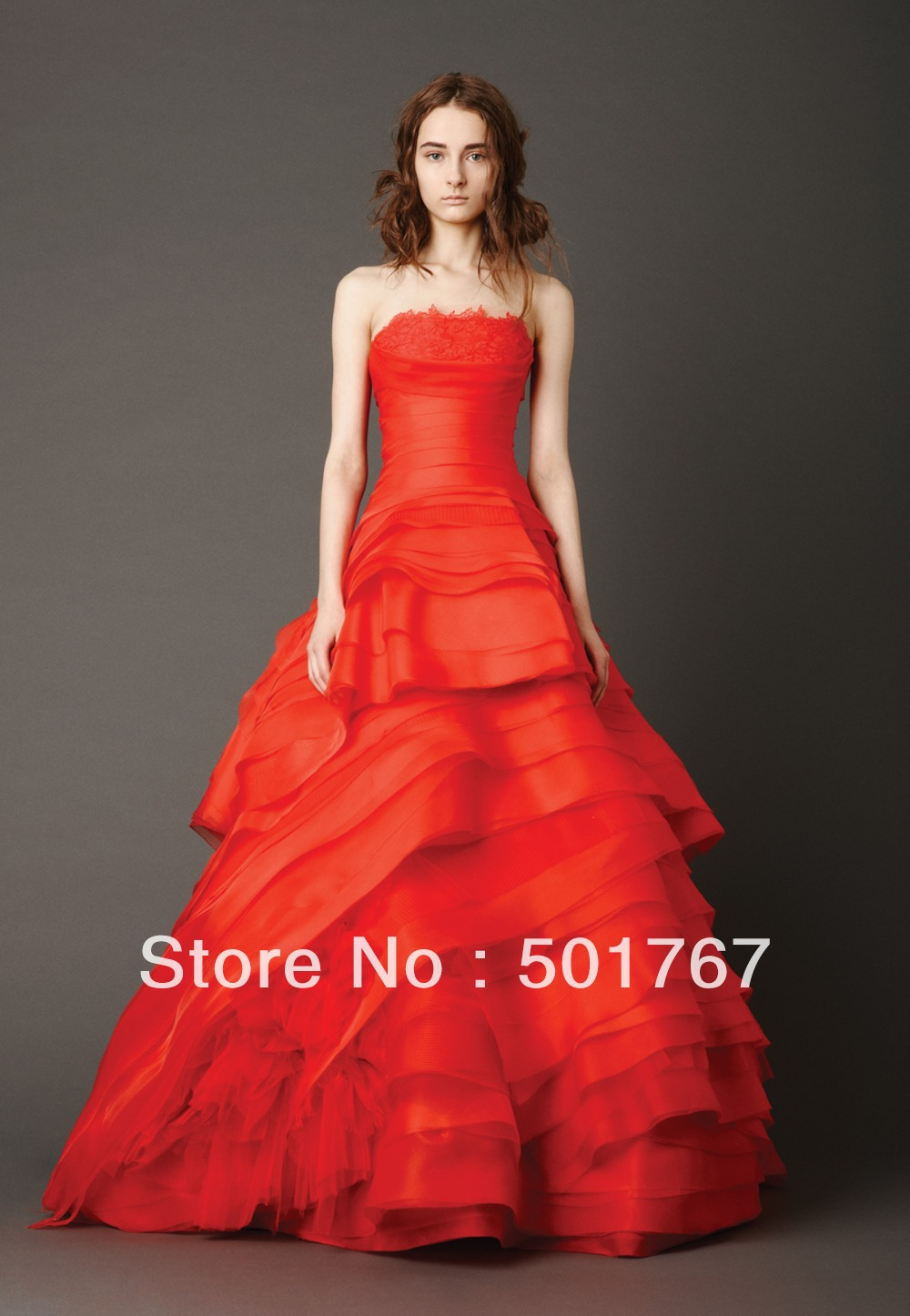 Red And White Wedding Dress Buy : Aliexpress buy new model wedding dress red and