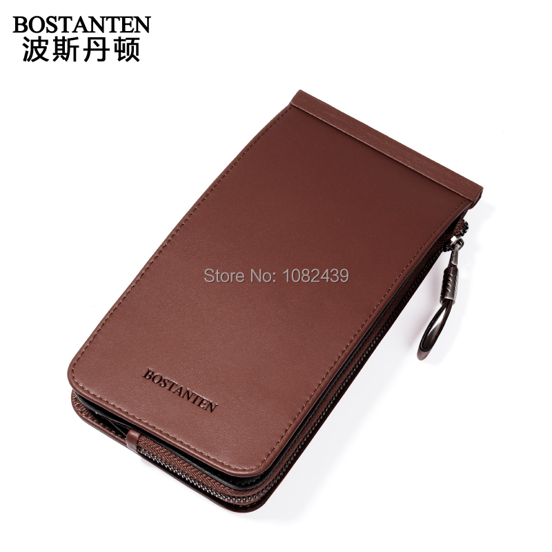Fashional Practical Men's genuine leather Vertical Wallet credit card holder and coin purse Paper(China (Mainland))