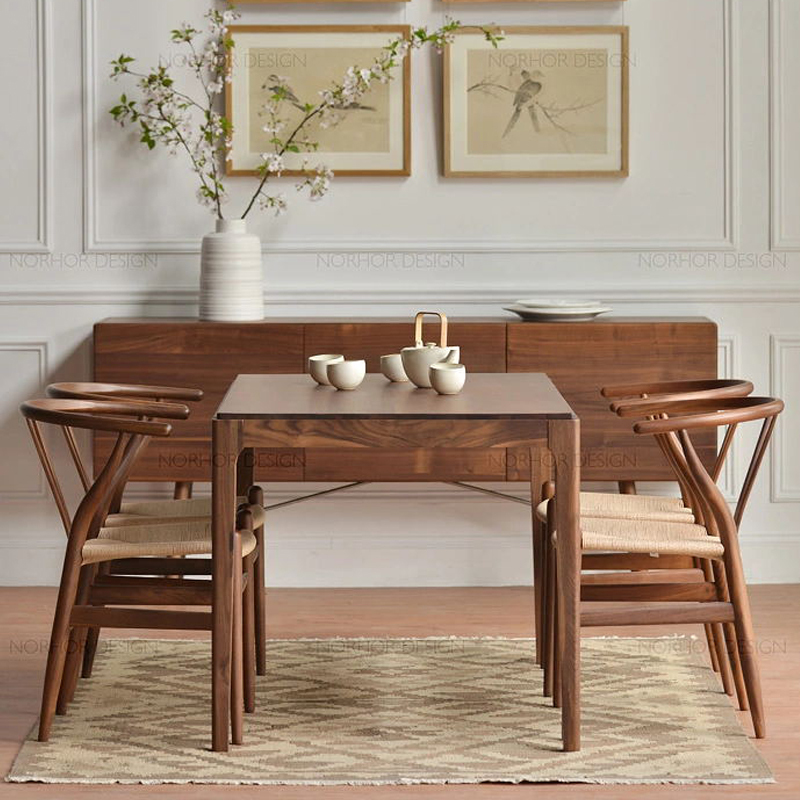 Nordic wood ash solid wood dining table dining table IKEA coffee table model room hotel restaurant tables(China (Mainland))