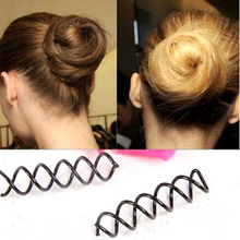 1 pcs Black Spiral Spin Screw Pin Hair Twist Barrette Women Hairpins Styling Tools(China (Mainland))