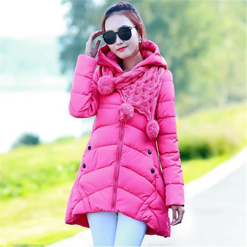 Здесь можно купить  2015 New Women Winter Cotton-padded Coat Female Long Slim Thick Jacket Hooded Zipper Outwear Plus Size ZS156  Одежда и аксессуары
