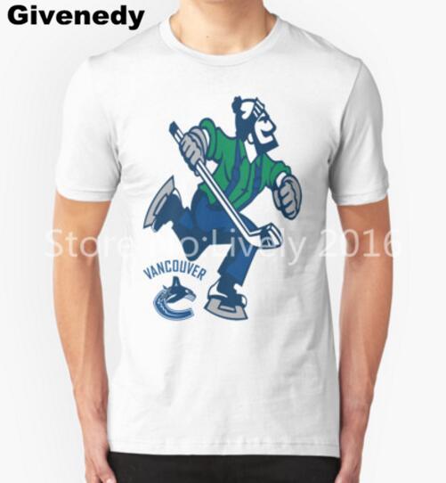 2016 Canada ice hockey canucks T Shirt Men Short Sleeve Cotton Men Fashion Hip Hop Clothing hockey sport Tee Shirts(China (Mainland))