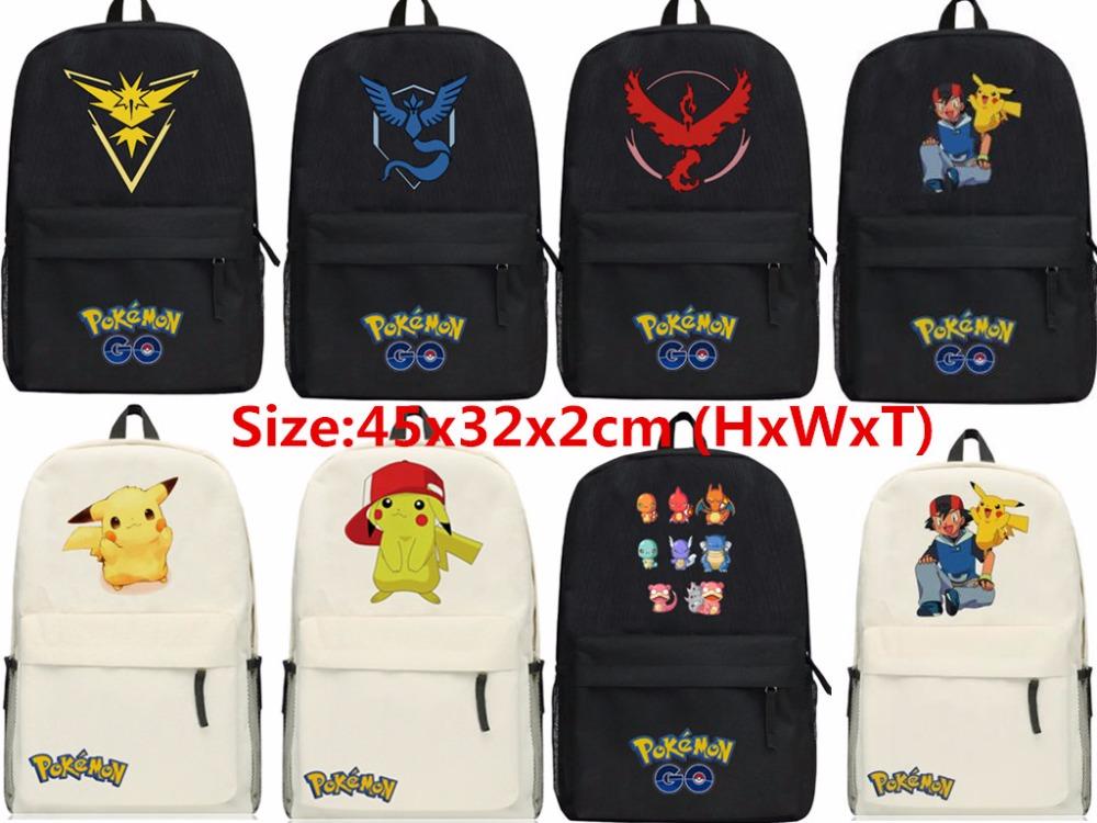 New Unisex font b Pokemon b font font b GO b font Backpack Shoulders SchoolBag Hot