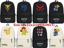New Unisex Pokemon GO Backpack Shoulders SchoolBag Hot Fashion Canvas Poke ball