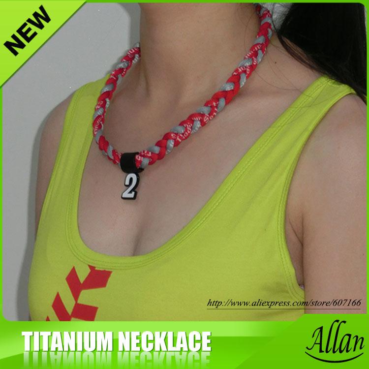 custom sport healthy titanium necklace(China (Mainland))