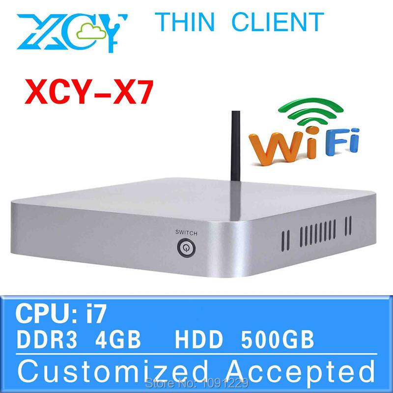 Mini Itx Computer Vensmile W10 Mini PC Slim PC X7 3517U/3687U 4G RAM 500G HDD Can be used internet cafe(China (Mainland))