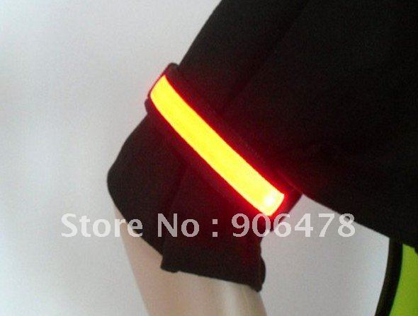 New Arrival Free shipping 50PCS LED Arm band, Flashing Arm Band, Lighting Arm band for Cycling skating Party(China (Mainland))