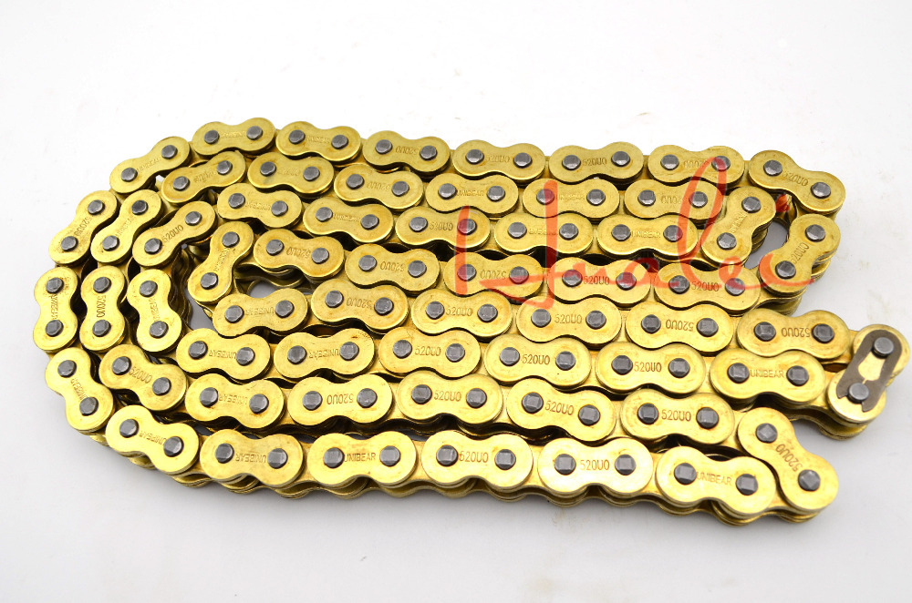 Здесь можно купить  530*120 Brand New UNIBEAR Motorcycle Drive Chain 530 Gold O-Ring Chain 120 Links For SUZUKI GSF 650 S BANDIT Drive Belts  Автомобили и Мотоциклы