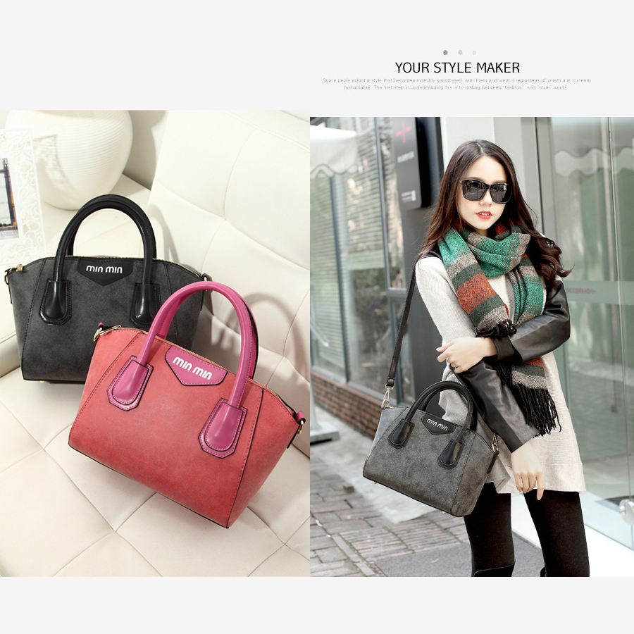 2015 Winter Women's Leather Handbag Bags Hot Sale Band Designers Ladies New Messenger Bags Shoulder Suede Leather Totes Bag(China (Mainland))