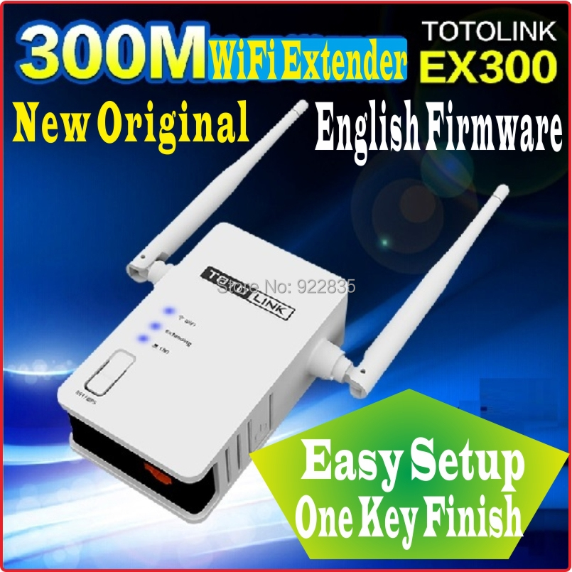 One Key Finish Setup [English Firmware] Totolink EX300 300Mbps WiFi Universal Repeater WiFi Range Extender WiFi Amplifier PROM10(China (Mainland))