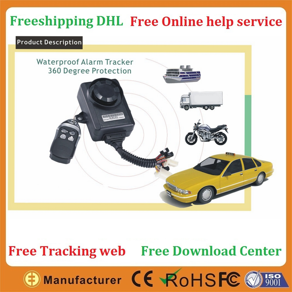 Mobile and PC two way free tracking Shock Alarm Accident Alarm GEO Area gps tracker motorcycle(China (Mainland))
